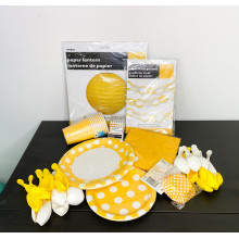 YELLOW PARTY SET + GIFT