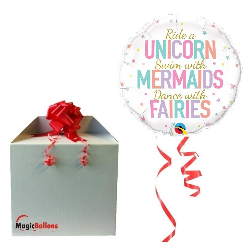 Unicorn/Mermaids/Fairies - foil balloon