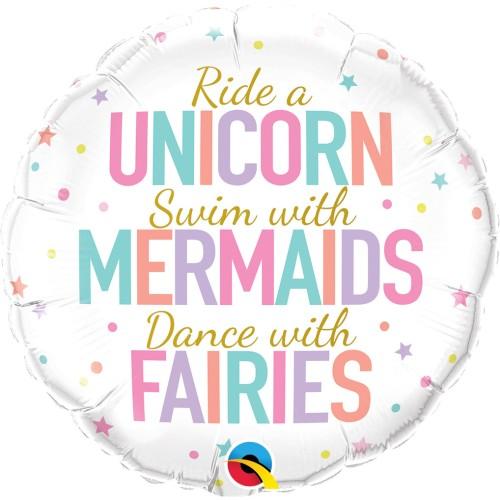 Unicorn/Mermaids/Fairies - folija balon