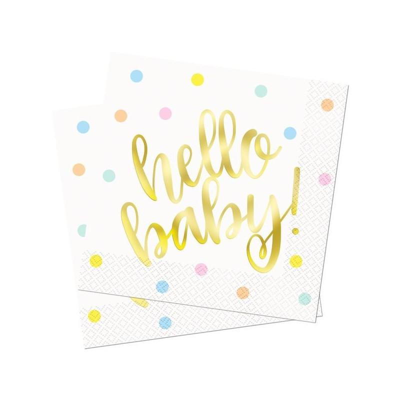 """""""Hello Baby"""" serviete"""