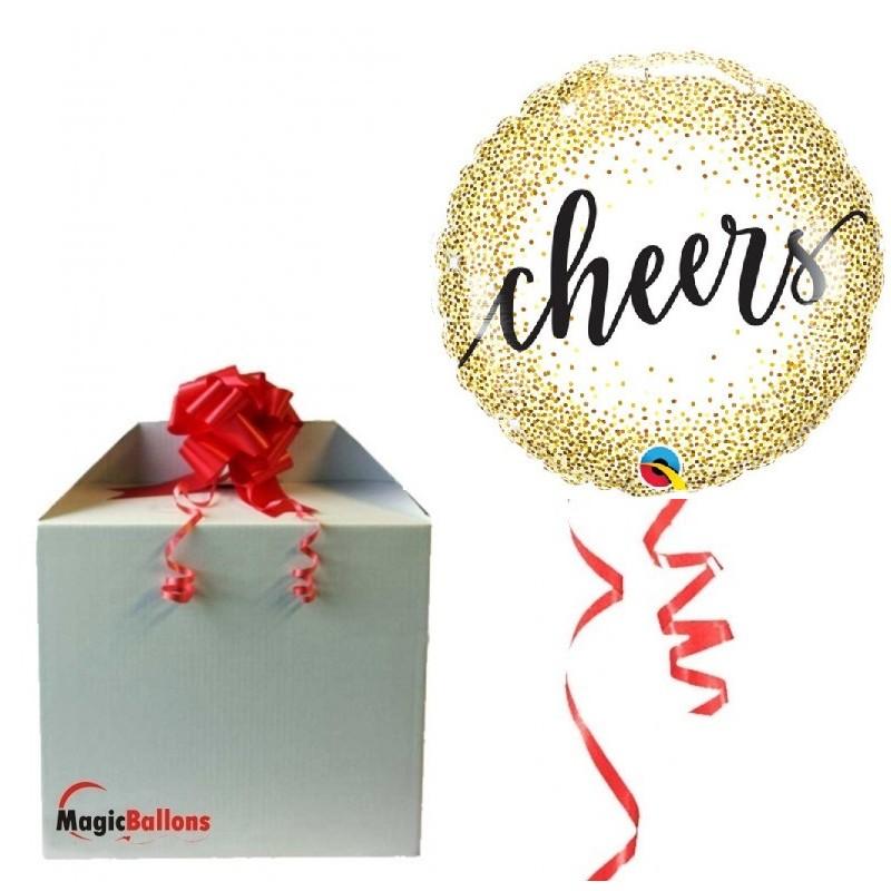 """Cheers"" - foil balloon"