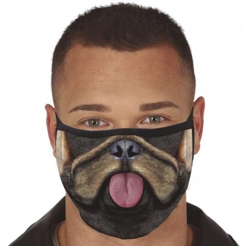 Three-layer washing mask with a dog motif