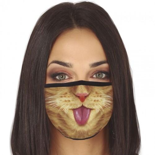 Troslojna pralna maska - Mačka