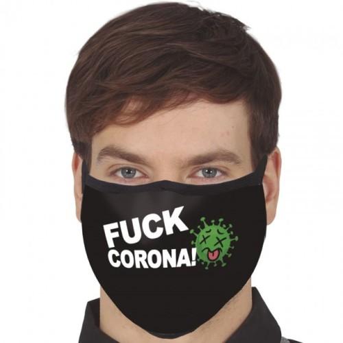 Troslojna pralna maska - FUCK CORONA!