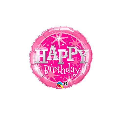 Birthday Pink Sparkle - foil balloon