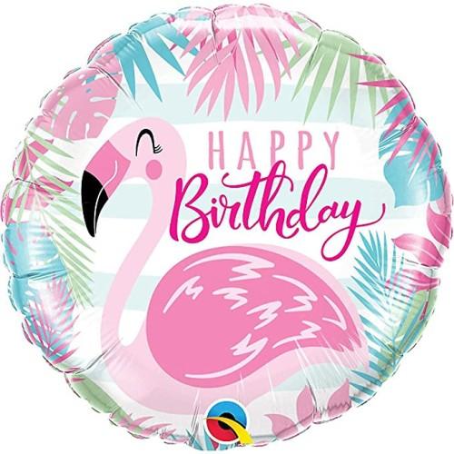 Bday roza flamingo - folija balon v paketu