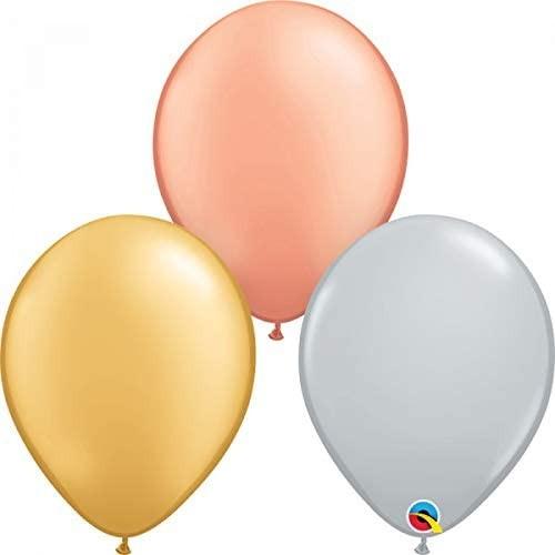 Lateks baloni 28 cm - Tri-colour Metallic Ass