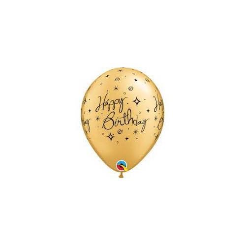 Happy Birthday Elegant Sparkles&Swirls - latex balloons