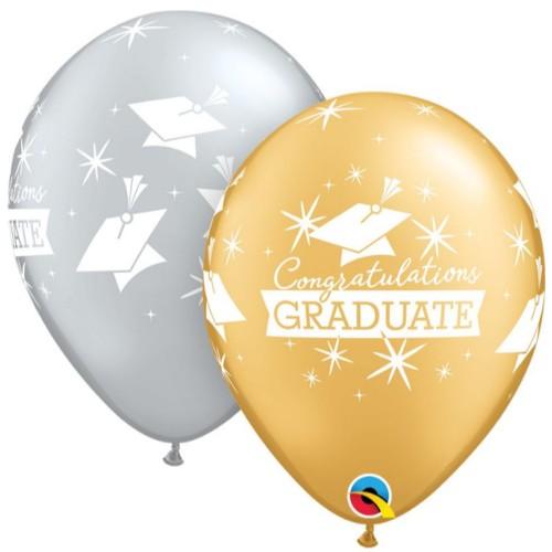 Lateks baloni 28 cm - Congratulations Graduate