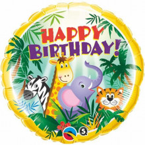 Birthday Jungle Friends - foil balloon
