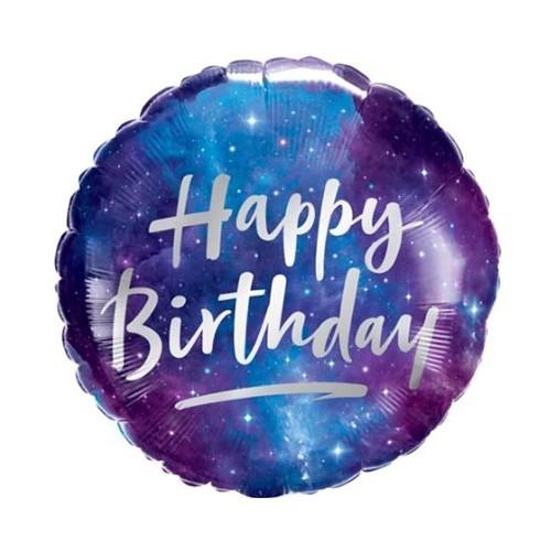 Happy Birthday Galaxy - foil balloon