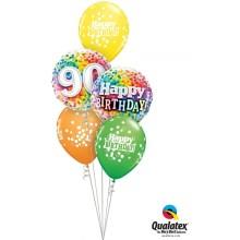 7 rainbow confetti - folija balon