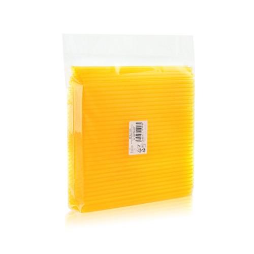 EKO Prozorno rumene slamice 250 kom