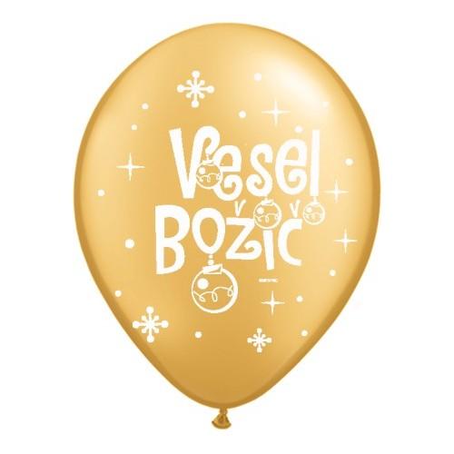 Balloon - Vesel Božič - Gold