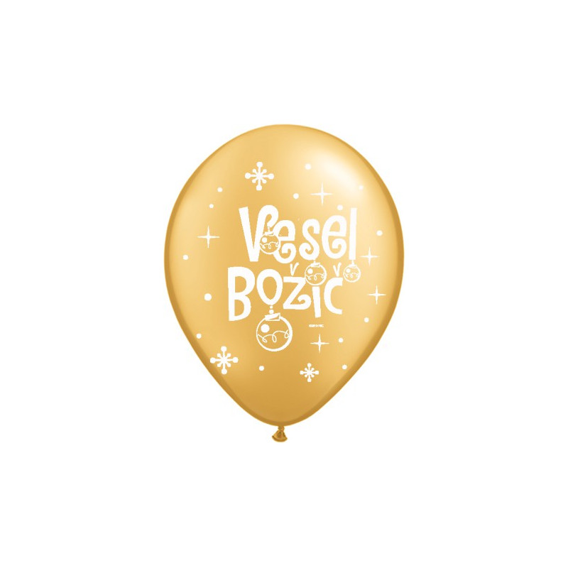 Balon Vesel Božič - zlato