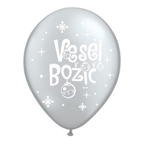 Balloon - Vesel Božič - Silver