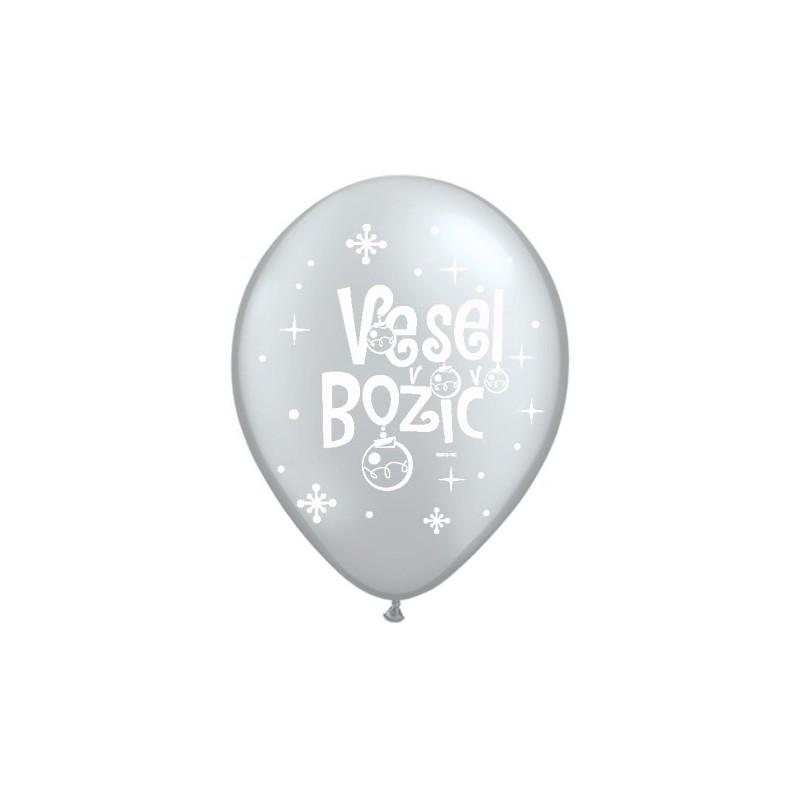 Balon Vesel Božič - Silver