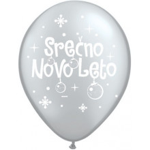 Balloon - Serčno Novo Leto - Silver
