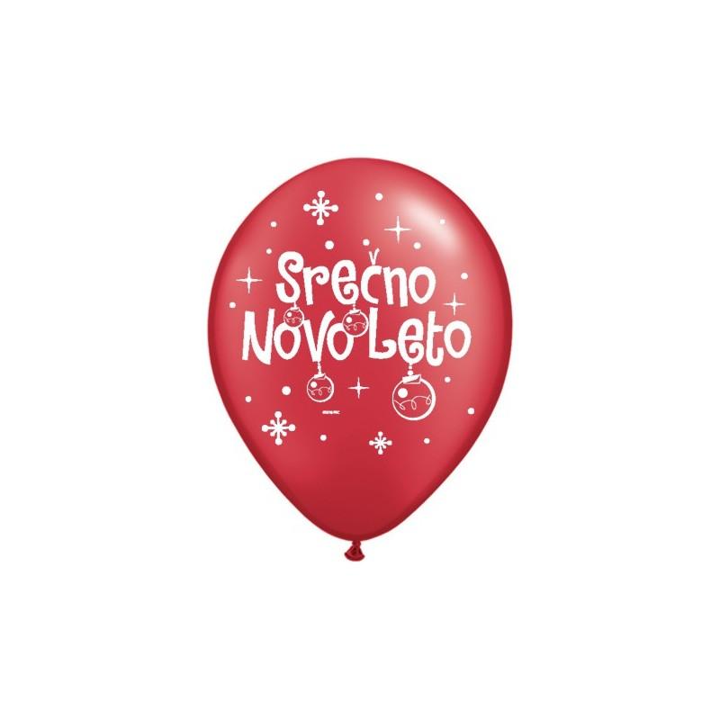 Balon Serčno Novo Leto - P. RRed