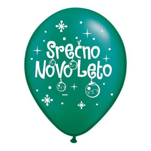 Balon Serčno Novo Leto - P. EGreen