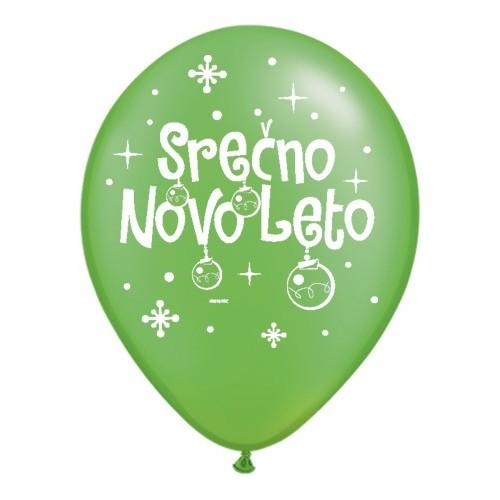 Balloon - Serčno Novo Leto - P. Lime Green