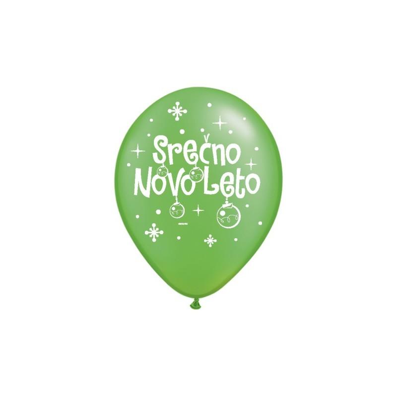 Balon Serčno Novo Leto - P. Lime Green