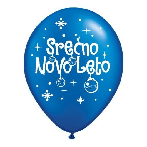 Balon Serčno Novo Leto - P. SBlue