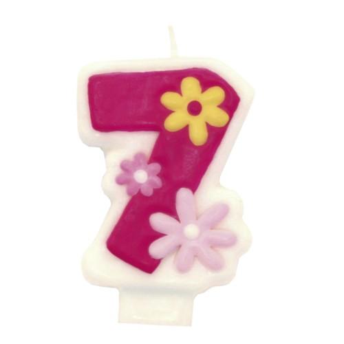 Kerze - Girl -Zahl 3