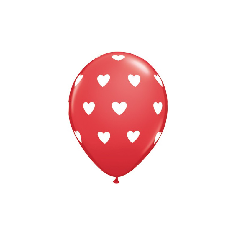 Balon Big Hearts - rdeč