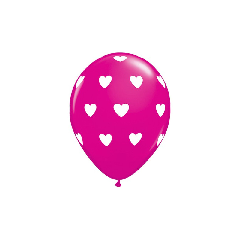 Balon Big Hearts - wild berry