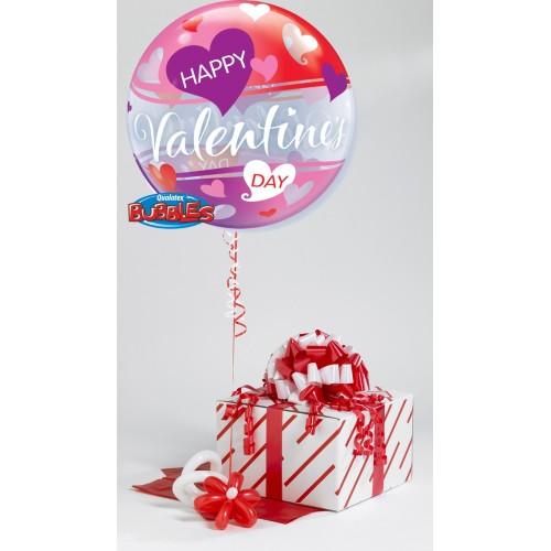 Valentine's Red & Pink Hearts - helium balloon