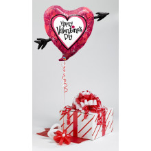 Valentine's Heart Of Roses-helium befullt