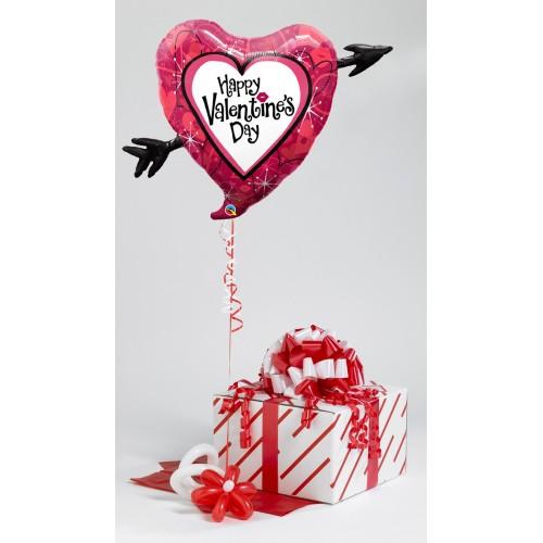 Valentine's Heart Of Roses- helium balloon