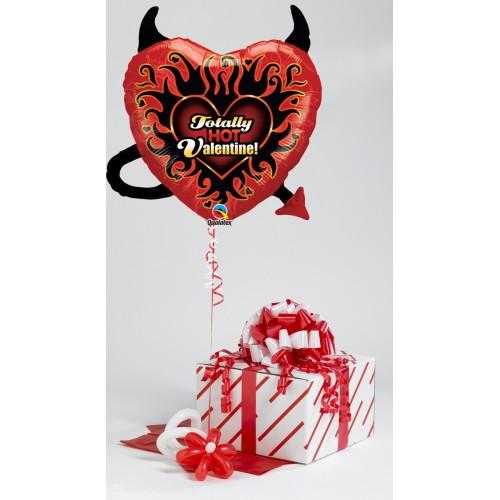 Happy Valentine's Heart & Arrow- helium balloon