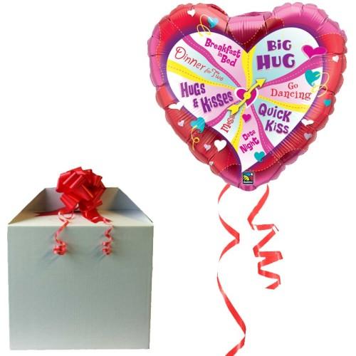 Valentine's Spinner - helium balloon