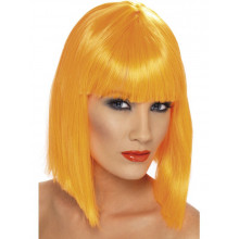 Neon red wig