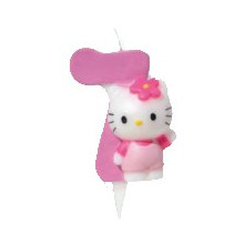 Kerze - Hello Kitty -Zahl 4