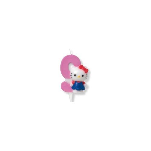 Kerze - Hello Kitty -Zahl 1