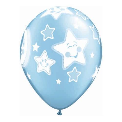 Baby moon & stars-modr