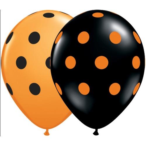 Balon tiskan big polka dots