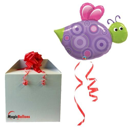 """Ballon  """" Birthday Wishes Butterflies""""  m. Helium befüllt"""