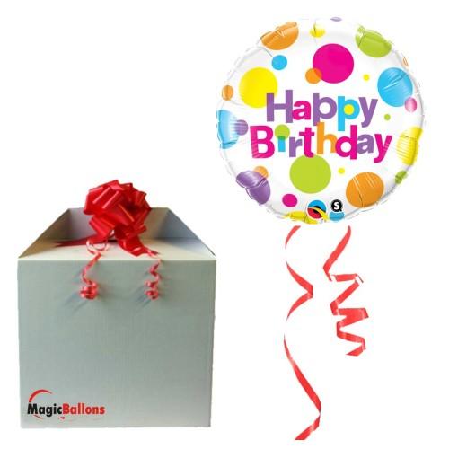 Birthday Big Polka Dots - foil balloon