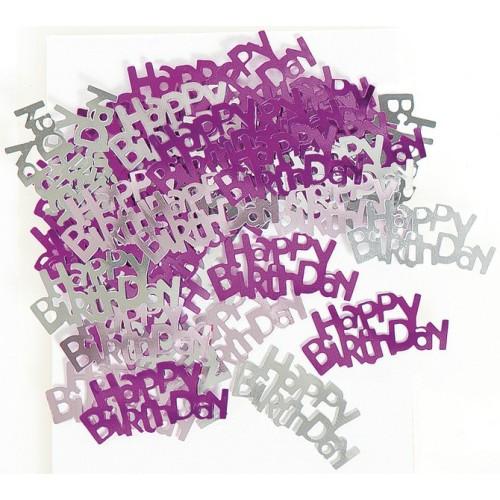 Konfetki - Happy Birthday pink