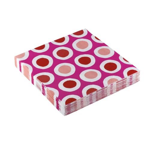 Curls pink napkins