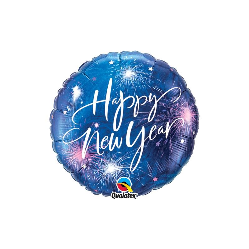 New Year Fireworks & Stars