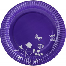 Summer party purple plate