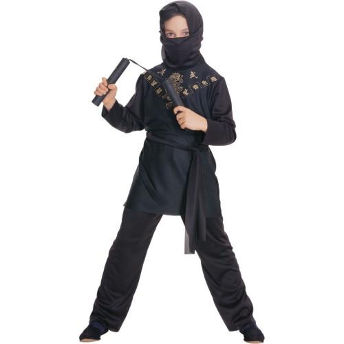 Ninja kostum črn