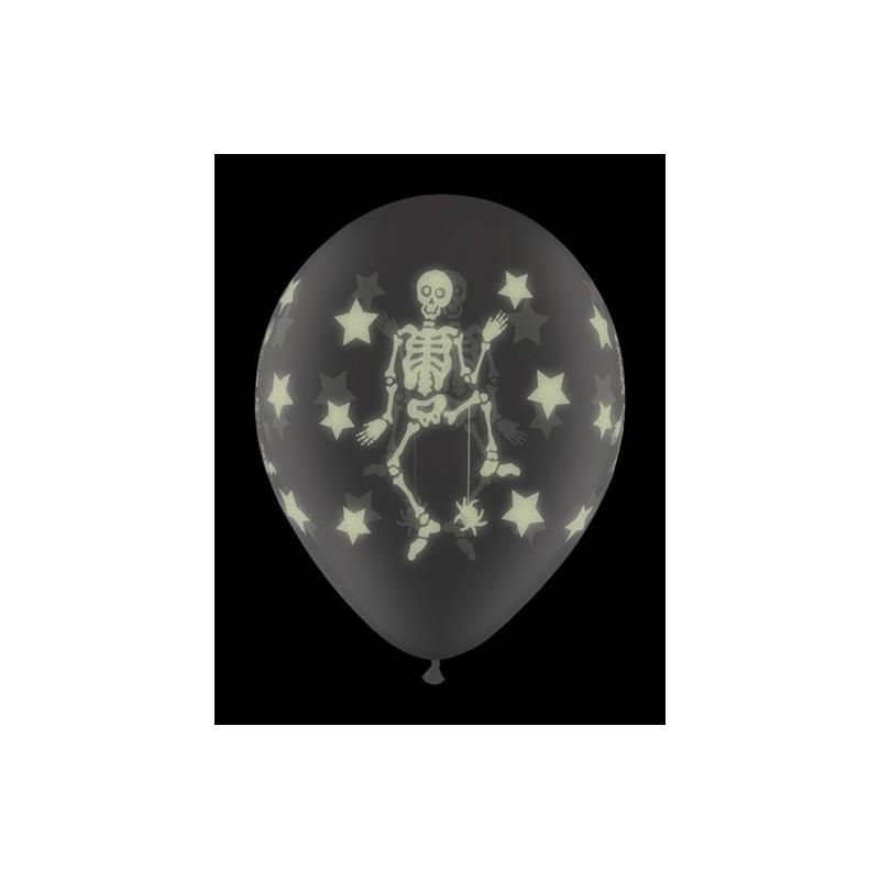 Magicballons Balloons Halloween Balloon Glow Skeleton