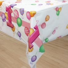 First birthday blue tablecover