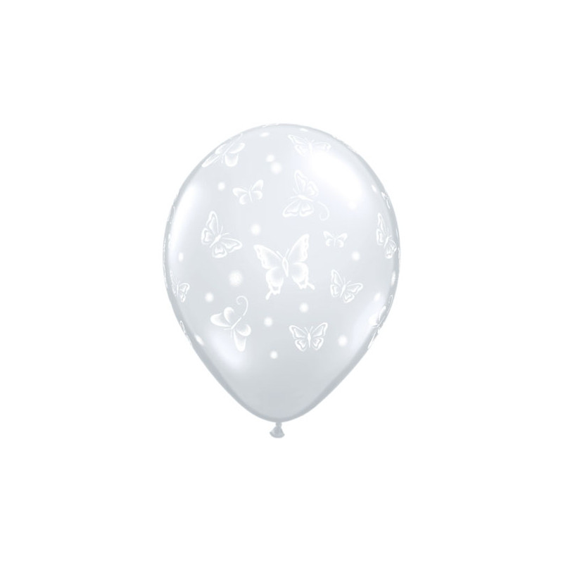 Balon Buterflies Diamond clear 28 cm